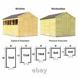 BillyOh Apex Wooden Garden Outdoor Workshop Garden Shed Sizes 10x8 up to 16x8