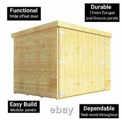 BillyOh Mini Master 6ft x 4ft Wooden Bike Store Garden Storage Shed