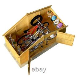 BillyOh Mini Master Tongue and Groove Bike Store Garden Storage Wooden Shed 4x8