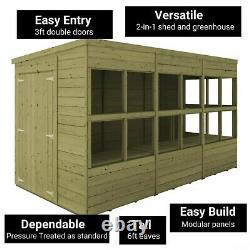 BillyOh Pent Potting Shed Wooden Outdoor Garden Greenhouse Pressure Treated
