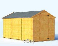 Garden Sheds 12x6 billyoh wooden garden shed apex windowless 12x6 feet size floor