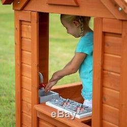 Childrens Garden Playhouse Kids Play Wendy House Outdoor Wooden Shed Backyard pc