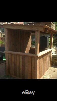 Chunky OAK colour garden outdoor drinking bar shed mancave home pub