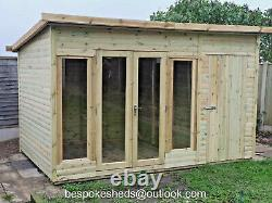 Combi Summer House With Shed Contemporary Garden Office Delivery 8-14 Weeks
