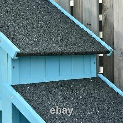 Combination Garden Storage Shed Outdoor Firewood House Waterproof Asphalt Roof