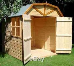 Dutch Barn Wooden Garden Shed with Windows double doors