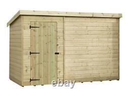 Empire 1000 Pent Garden Shed 10X6 SHIPLAP T&G PRESSURE TREATED DOOR LEFT