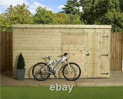 Empire 1000 Pent Garden Shed 12X6 SHIPLAP T&G PRESSURE TREATED DOOR RIGHT
