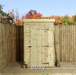 Empire 1000 Pent Garden Shed 4X3 SHIPLAP TANALISED SINGLE DOOR
