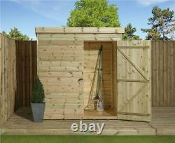 Empire 1000 Pent Garden Shed 5x4 SHIPLAP T&G PRESSURE TREATED DOOR RIGHT