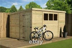 Empire 2500 Pent Garden Shed 12X6 SHIPLAP T&G WINDOWS PRESSURE TREATED DOOR LEFT