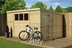 Empire 2500 Pent Garden Shed 9X8 SHIPLAPT&G WINDOWS PRESSURE TREATED DOOR RIGHT