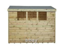 Empire 2800 Pent Garden Shed 6X3 SHIPLAP T&G 3 WINDOWS LOW SIDE PRESSURE TREATED
