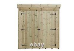 Empire 4000 Pent Garden Shed 6X5 SHIPLAP PRESSURE TREATED T&G DOUBLE DOOR