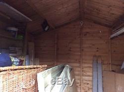 Extra Large Garden Shed 10ft x 10ft Good Sound Building Storage Workshop Windows