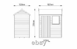 FOREST 6x4 PRESSURE TREATED GARDEN STORE WOOD TIMBER TOOL SHED STORAGE SIDE DOOR