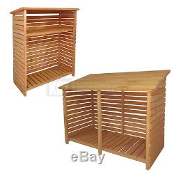Firewood Storage Shed For Wood Burner Log Store Slatted Garden Patio Furniture