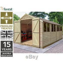 Forest 10'x20' Wooden Garden Shed Pressure Treated Garden Storage