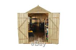 Forest 10x8 Apex Garden Workshop Outdoor Shed Building Pressure Treated 10FT 8FT