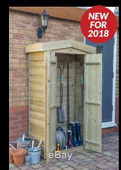 Forest 3'3x1'6 Pressure Treated Sheds Overlap Apex Tall Garden Store Storage
