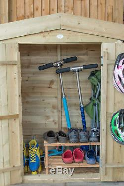Forest 3'3x1'6 Pressure Treated Sheds Overlap Pent Apex Garden Store Storage