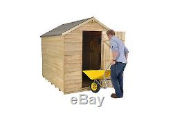 Forest 8x6 Windowless Treated Apex Security Garden Tool Utility Shed 8FT 6FT New