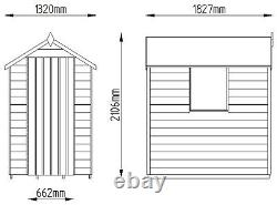 Forest Overlap Pressure Treated Wooden Apex Shed 6 x 4ft