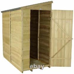 Forest Wooden 6 x 3ft Overlap Pent Single Door Garden Shed