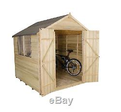 Forest Wooden Garden Shed 7FTx7FT Pressure Treated Timber Double Door Shed