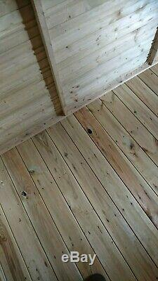 GARDEN SHED 5x5 APEX TANALISED PRESSURE TREATED WOODEN T&G HUT CHEAP & FAST