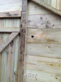 GARDEN SHED 6x4 APEX TANALISED PRESSURE TREATED WOODEN T&G HUT CHEAP & FAST