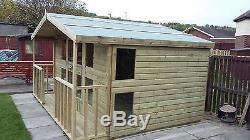 garden shed summerhouse tanalised heavy duty 12x10 13mm tg 3x2