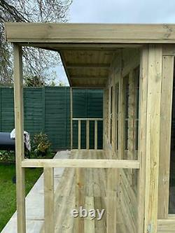 GARDEN SHED SUMMER HOUSE TANALISED SUPER HEAVY DUTY 12x12 19MM T&G. 3X2