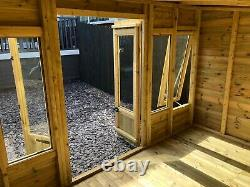 GARDEN SHED SUMMER HOUSE TANALISED SUPER HEAVY DUTY 12x8 19MM T&G. 3X2