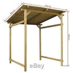 Garden Canopy Outdoor Gazebo Wooden Sunshelter Patio Pavilion Storage House Shed