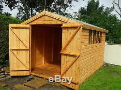 Garden Shed12x8 apex 13mm t+g, inc roof 3X2 frame 1thick floor free erect