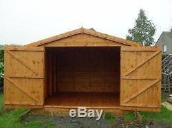 Garden Shed 10x10 Apex 7ft d/d 13mm t+g 3X2frame 1thick floor free erect