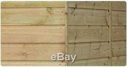 Garden Shed 10x5 Pent 3 Low Windows Pressure Treated Door Left End