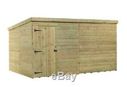 Garden Shed 12x8 Pent Shed Pressure Treated Tongue And Groove Door Left