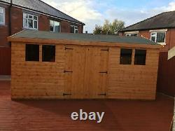 Garden Shed 16X10 13mm t+g including roof 3X2frame 1 thick floor free erect