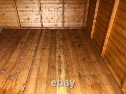 Garden Shed 16x10 apex 13mm kiln dried t+g d/d 3X2framework 1thick floor