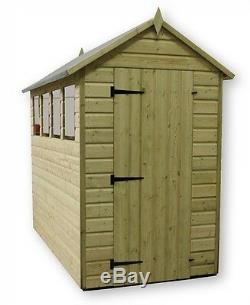 Garden Shed 4x4 Shiplap Apex Roof Tanalised Pressure Treated With Window