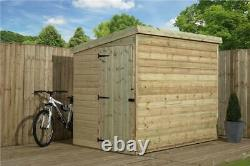 Garden Shed 5x4 Shiplap Pent Roof Wooden Tanalised Pressure Treated