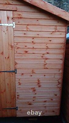 Garden Shed 6x8 Reverse Apex 12mm T&G Quality Wooden Hut With Double Doors