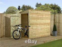 Garden Shed 7x3 Shiplap Pent Shed Tanalised Pressure Treated Tongue And Groove