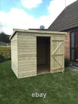 Garden Shed 7x5 Tanalised Pressure Treated Fully T&G Door Centre Wooden Hut