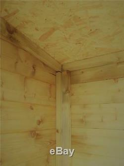Garden Shed 7x7 Pent Shed Pressure Treated Tongue And Groove Double Door Right