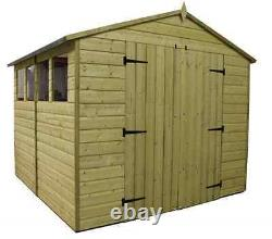 Garden Shed 8x12 Apex Shed Pressure Treated Extra Height 6 Windows