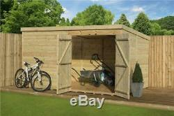 Garden Shed 9x5 Pent Shed Pressure Treated Tongue And Groove Double Door Right