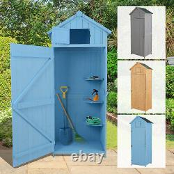 Garden Shed Storage House Tool Room Spire Roof with Window Pine, Cedarwood